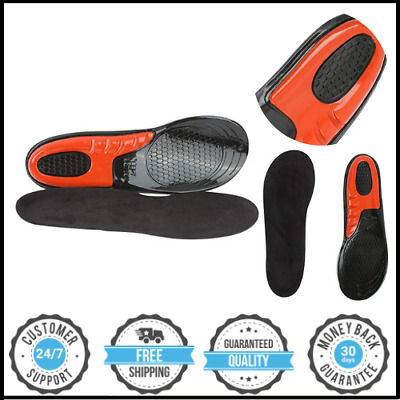£5.22 • Buy Work Boot Insoles Hiking Trainer Inner Soles Foot Inserts Silicone Gel Sizes