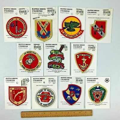 $34.99 • Buy Lot 11 New Original Package U.S. Military Patches Assorted Variety 15+ Yrs. Old!