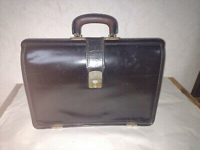 £30.78 • Buy Black Leather Gladstone / Doctors Bag By Cheney  Made In England