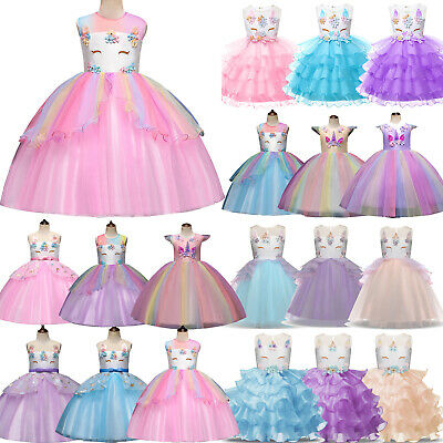 AU31.29 • Buy Cute Kids Girls For Cosplay Costume Tulle Princess Dress Birthday Party Clothes