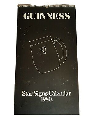 £35 • Buy Vintage Guinness Star Signs Calendar 1980. Rare Complete And Clean