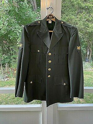 $17.34 • Buy Vintage US Army  Class A Military Green Uniform Dress Jacket Coat Poly/Wool