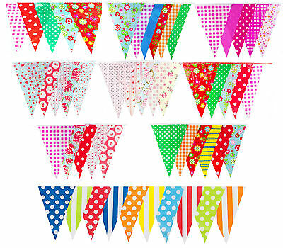 £8.95 • Buy Long Bunting Flags Birthday Garden Wedding Baby Shower Floral 100ft 30m 60 Flag