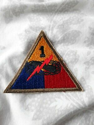 £6 • Buy Ww2 US Army 1st Armor Division Patch Old Ironsides Ww2 Cut Edge