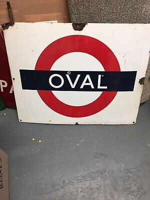 £350 • Buy London Underground Sign The Oval 28 X 22 Inch . Rare Enamel Sign. Cricket Fan .