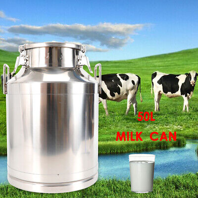 $114 • Buy 50L Milk Bucket Stainless Steel Milk Storage Transport Can Pail Barrel Canister