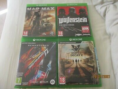 £8.50 • Buy Mad Max Wolfenstein New Oder State Of Decay 2 Hot Pursuit Remastered Xbox One