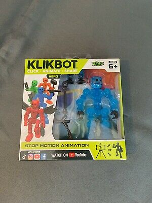 £9.91 • Buy NEW! KLIKBOT Heroes & Villains By Stikbot - Stop Motion Action Toy Play, Cosmo