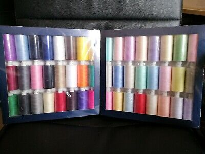 £1.95 • Buy Coats Moon Thread Polyester - Cotton Sewing Hand Machine 1000y X 24 Assorted