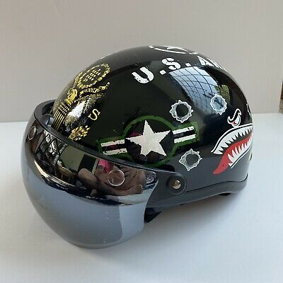 $74.99 • Buy DOT Outlaw Motorcycle Riding Helmet Army Strong Military Graphics Size XXL