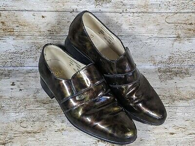 £25.99 • Buy Vintage Sanders Dress Shoes Mens Size 10 Pearlescent Leather Made In England