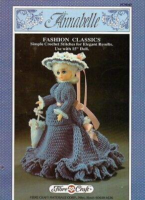 £1.90 • Buy ~ Fibre Craft Crochet Pattern For Doll's Victorian Period Outfit ~ 15  Doll ~