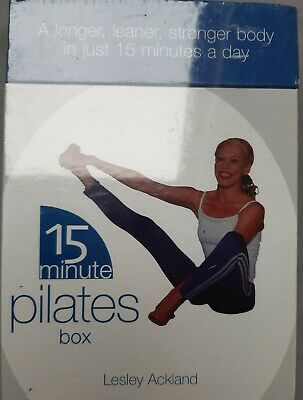 £5.99 • Buy 15 Minute Pilates Book/Cards Box Set Lesley Ackland Brand New