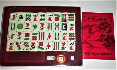 $23.32 • Buy Vintage MAH JONGG Complete Set - Chinese Game Of 4 Winds Plus Book - Gibsons