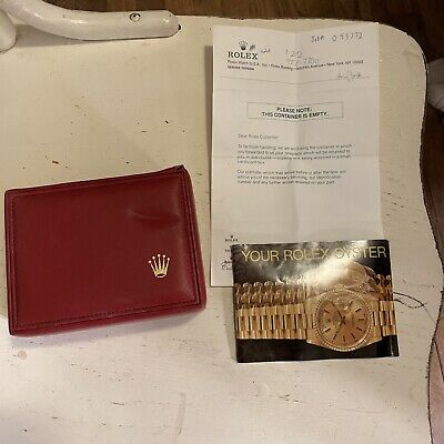 $ CDN155.78 • Buy Vintage Red Rolex Watch Box With Pillow, Booklet & Letter Rolex Oyster 14.00.71