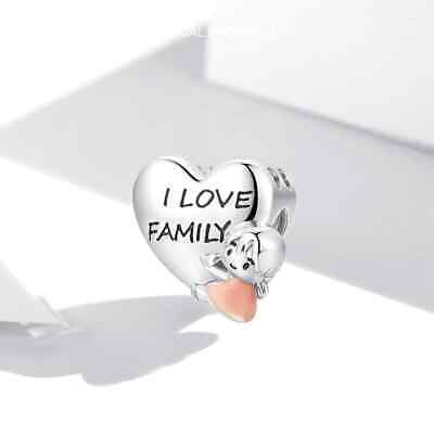 AU31.50 • Buy I LOVE FAMILY S925 Sterling Silver Charm By Charm Heaven NEW