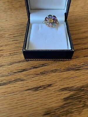 £110 • Buy 9ct Gold (Hallmarked), Ladies Fancy Sapphire Ring - Size N