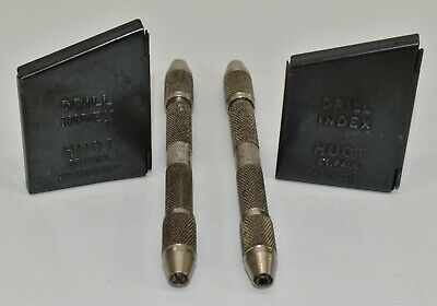 $34.99 • Buy Vintage Huot Machinist Drill Index Small Drill Bits Metal Case With Bits Drills