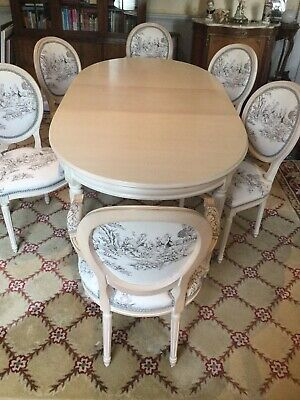 £650 • Buy Louis French High Quality Expandable Dining Table & 4 Chairs  2 Carvers