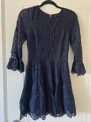 AU15 • Buy Forever New Navy Lace Dress Size 8