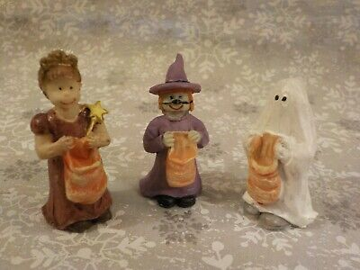 $ CDN16.53 • Buy Vintage Bisque Halloween Trick Or Treaters Children  Lot  Of 3 - Pre-owned