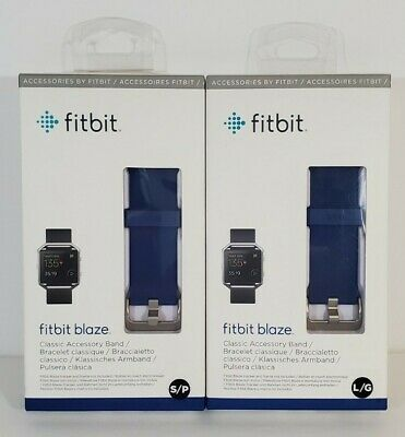 $ CDN17.56 • Buy Fitbit Blaze Classic Accessory Water Resistant Band W Stainless Steel Clasp Blue