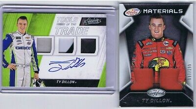 AU1.36 • Buy Ty Dillon - Tools Of The Trade - Autograph / Race Used (x 5) - 2 Cards
