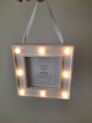£3.45 • Buy Next ( 4 X 4 Inches ) Square White Light Up LED Picture Photo Frame