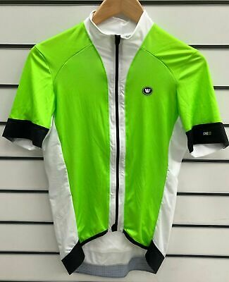 $13.98 • Buy Vermarc Mens Short Sleeve Cycling Jersey White/Fluo Green Sz L 38  Chest