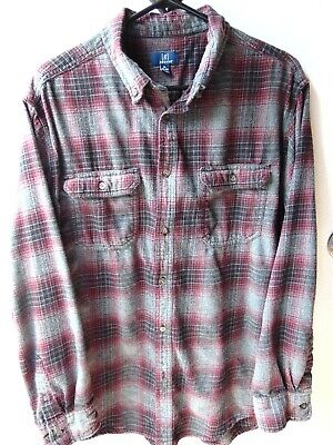 $11.97 • Buy Men's Flannel Shirt By George Long Sleeve Size XL (46-48)