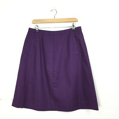 £22 • Buy Boden Womens Chino A Line Skirt Purple Mauve Size 14R WG591 Cotton Stretch