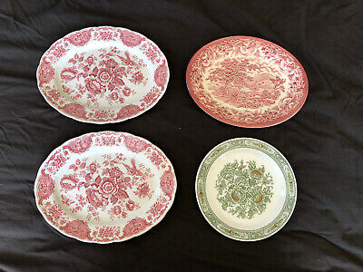 £5 • Buy Vintage Ridgway Staffordshire Pottery Plate Collection Windsor Cantebury
