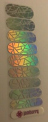 AU1.35 • Buy Jamberry Nail Wraps Half Sheet Retired Shattered Glass Holographic