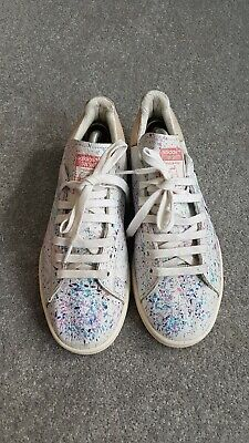 £25 • Buy Adidas Stan Smith Paint Splattered Style Custom Painted Trainers Sneakers UK8