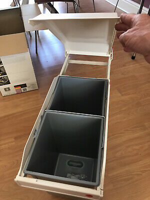 £15 • Buy Hailo Cupboard Steel 28 Litre Pull Out/Under Counter Rubbish Bin