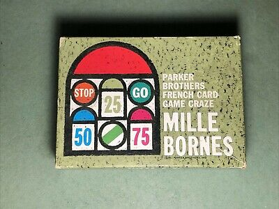 $9.99 • Buy Vintage Parker Brothers   Mille Bornes   French Card Game   1962