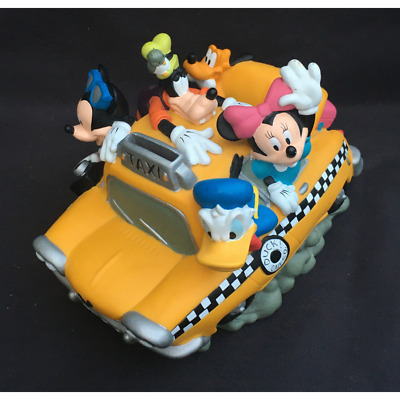 """£14.99 • Buy Disney Fab 5 Duck Cab Taxi Piggy Bank Mickey Mouse And Friends Park Money Box 9"""""""