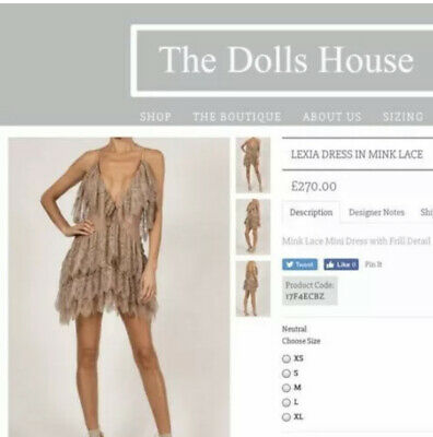 £82.50 • Buy The Dolls House Lexia Lace Dress L *reduced Grab Whilst You Can *