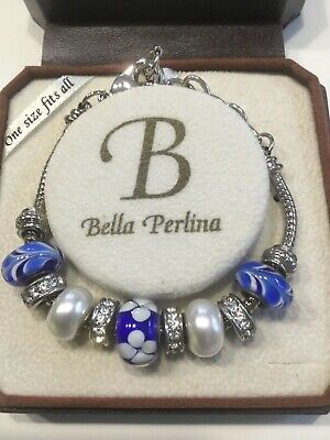 £14.99 • Buy A Beautiful Bella Perlina Charmed Braclet New Condition Blue And Silver Colour