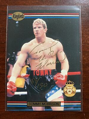 £72.68 • Buy 1991 Ringlords Tommy Morrison Signed Rookie Card Mint Auto /150 RC Autograph
