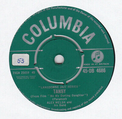 £14.99 • Buy Alex Welsh & His Band - Tansy (7 , Single)