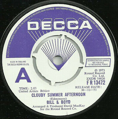 £22.49 • Buy Bill And Boyd - Cloudy Summer Afternoon (7 , Single, Promo)