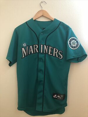 $19.99 • Buy Majestic Men's Small Seattle Mariners Green/Teal Home Robinson Cano Jersey