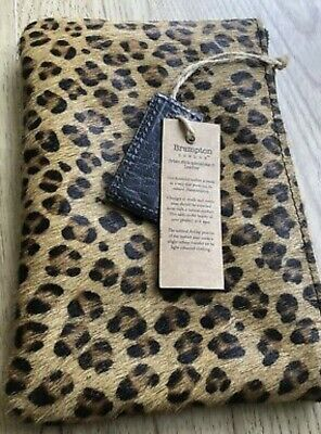 £10 • Buy Brampton Leather Leopard Print Clutch Bag - NEW With Tags