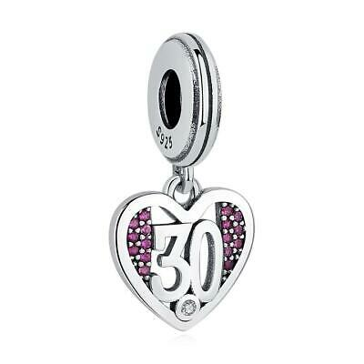 AU27 • Buy 30 Years Birthday Momento S925 Sterling Silver Charm By Charm Heaven NEW