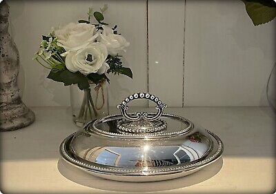 £35 • Buy Vintage Silver Plated Lidded Entree Dish/Serving Tureen