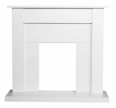 £224.95 • Buy Electric Fire White Wooden Fireplace Surround White Hearth And Back Panel Bnib