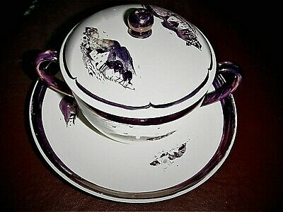 £63.11 • Buy Vintage Wedgwood Alfred Powell `one Off` Soup Cup & Saucer Maroon Lustre Ware!