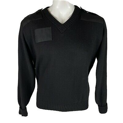 $25 • Buy Commando By Jack Young Black Sweater Military Epaulettes USA Made XL -300