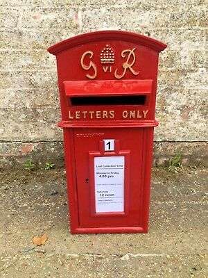 $208.55 • Buy British Royal Mail Replica GR Red Post Office Post Box - Available With Stand